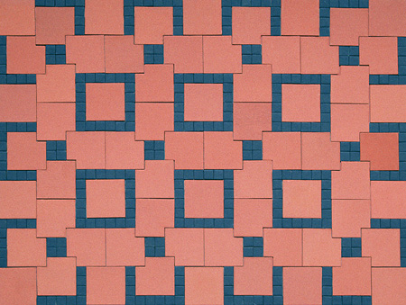 Interlocking Tile Design Monochrome Tiles